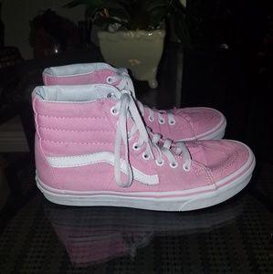 VANS pink  hightop shoes